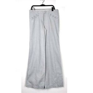 NEW Elevenses Anthro Button Waist Wide Leg Slacks